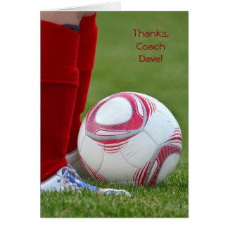 Fußball-Trainer danken Ihnen Grußkarte