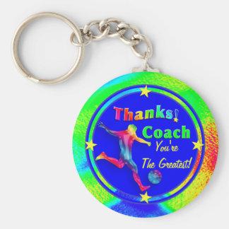 Fußball-Trainer danken Ihnen Keychain Standard Runder Schlüsselanhänger