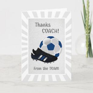 Danke an den fußballtrainer