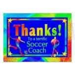 Fußball-Trainer danken Ihnen zu kardieren Grußkarten