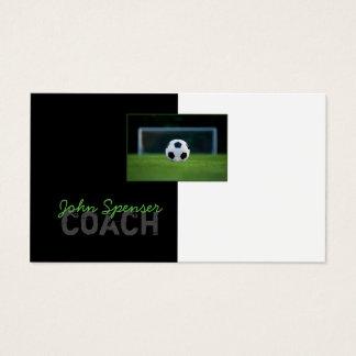 Fußball-Trainer-Trainer trägt Ziel-Visitenkarte Visitenkarte