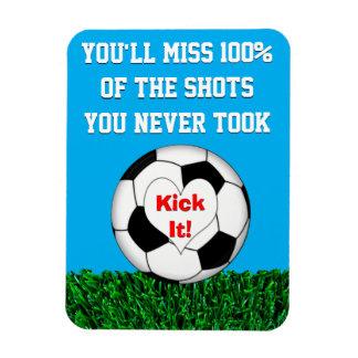 Fußball - treten Sie ihn! Magnet