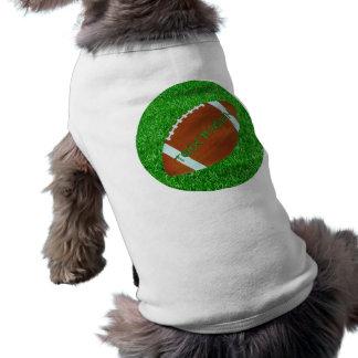 Fußball u. Rasen Ärmelfreies Hunde-Shirt