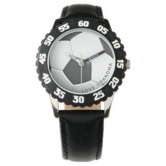 Fußball-Uhr-Liebe-Großmutter-kundengerechter Sport Armbanduhr