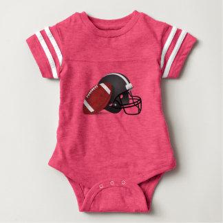 Fußball und Sturzhelm Baby Strampler