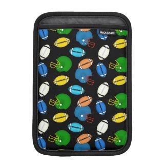 Fußball- und Sturzhelmsportthemamuster Sleeve Für iPad Mini
