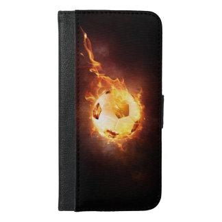 Fußball unter Feuer, Ball, Fußball iPhone 6/6s Plus Geldbeutel Hülle