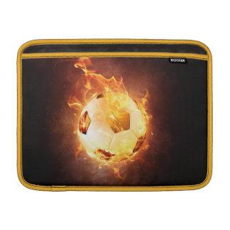 Fußball unter Feuer, Ball, Fußball MacBook Air Sleeve