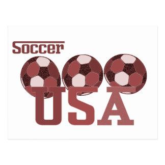 Fußball USA-Geschenke u. -grüße Postkarte