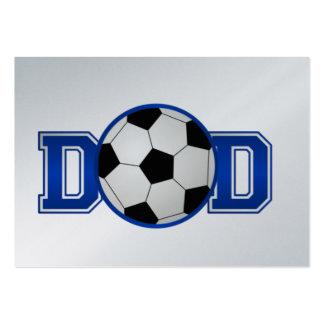 Fußball-Vati-Blau Jumbo-Visitenkarten