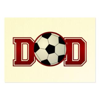 Fußball-Vati-Rot Jumbo-Visitenkarten