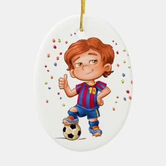 Fußball-Verzierung Keramik Ornament