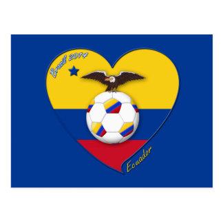 Fußball von ECUADOR. Ecuadorian National Team Socc Postkarten