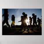 Fußball-Weg Posterdruck