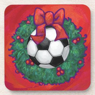Fußball-Weihnachten Drink Untersetzer