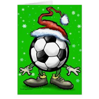 Fußball-Weihnachten Karte