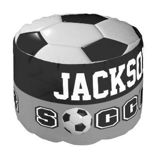Fußball-weißes und schwarzes Sport-Muster Hocker