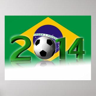 Fußball-Weltmeisterschaft 2014 Poster