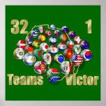 Fußball-Weltmeisterschaftfußballfans und -trainer Poster