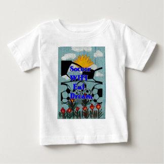 Fußball WIFI isst Traumwiederholung Baby T-shirt