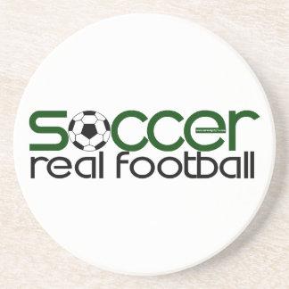 Fußball = wirklicher Fußball Getränkeuntersetzer