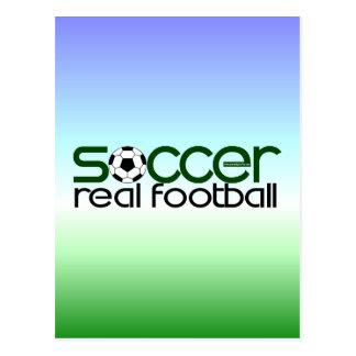 Fußball = wirklicher Fußball Postkarte