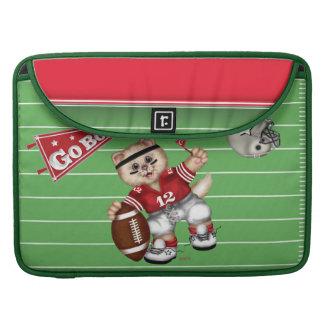 FUSSBALLcat-CARTOON Rickshaw Macbook Hülse Sleeve Für MacBook Pro