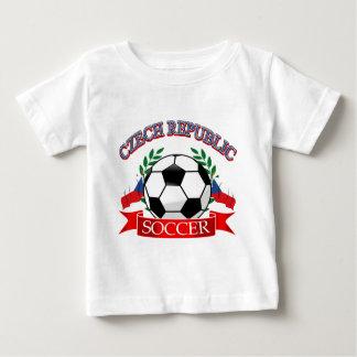Fußballentwürfe der Tschechischen Republik Baby T-shirt