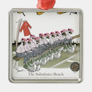 Fußballersatz Rotteams Silbernes Ornament