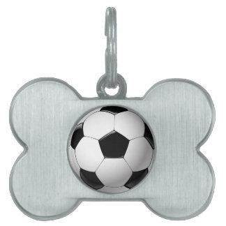 Fußballfußbalball Schwarz-weiß Tiermarke