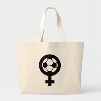 Fußballikone für Frauen Jumbo Stoffbeutel