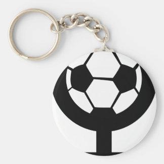 Fußballikone für Frauen Standard Runder Schlüsselanhänger