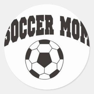 Fußballmamma Runder Aufkleber