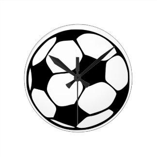 Fußballmamma Runde Wanduhr