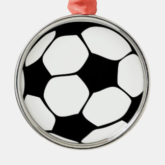 Fußballmamma Silbernes Ornament