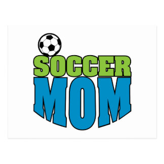 Fußballmamma-Textgraphik Postkarte