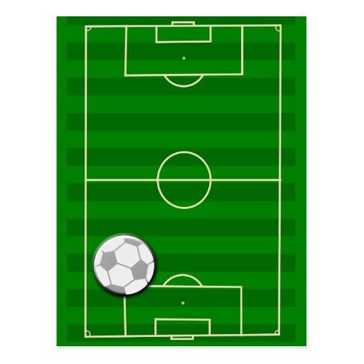 Fußballplatz-Fußball Postkarte