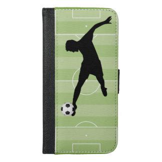Fußballplatzfußballspieler iPhone 6/6s Plus Geldbeutel Hülle