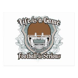 Fußballspiel Brown Postkarte