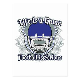 Fußballspiel dunkelblau postkarte