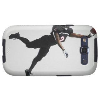 Fußballspieler, der in mittlere Luft springt, um B Etui Fürs Galaxy SIII