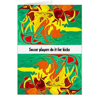 Fußballspieler tun es für Tritte Karte