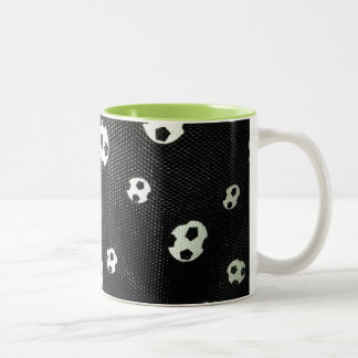 Fußballtasse innen grün zweifarbige tasse