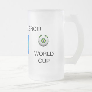 Fußballteam Brasilien-Cup Mattglas Bierglas