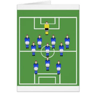 Fußballteam im Blau Karte
