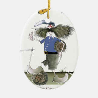 Fußballteam-Kapitän-Blues Keramik Ornament