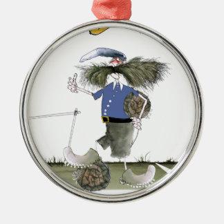 Fußballteam-Kapitän-Blues Silbernes Ornament