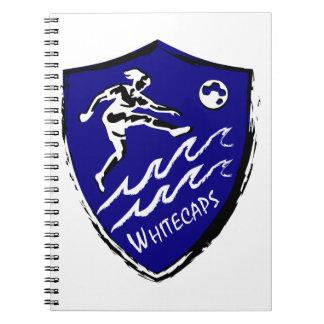 Fußballteam Whitecaps Frauen Spiral Notizblock