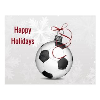 Fußballverzierung Feiertags-Karten Postkarte