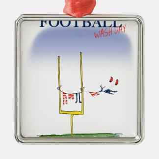 Fußballwäschetag, tony fernandes silbernes ornament